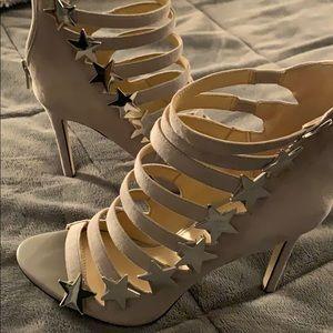 Gray Suede Katy Perry Heels